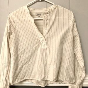 Madewell Popover Shirt -Quarter Button Down